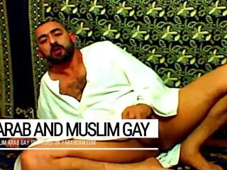 Arab gay vicious, muslim Libyan jerking off and cumming on prayer carpet after islamic devotion