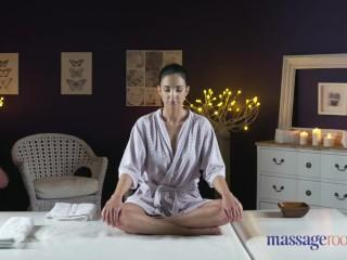 Massage Rooms Natural tits hot lesbians enjoy face sitting and orgasms