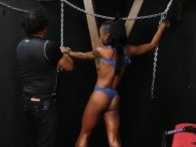 Black Slave Harmonys Ebony Spanking and Tied Up Whipping on ...