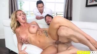 Janna Hicks Fucks Her Cuckold Husband's Friend While He Watches