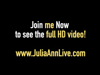 World Famous Milf Julia Ann Gets A Load Of Cum On Her Face!