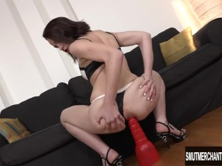 Lindsey Sheron getting very anal with a black guy