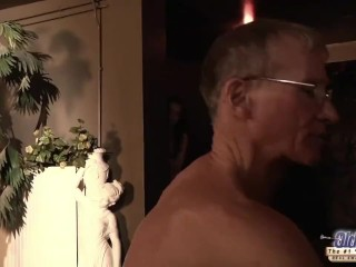 Teen Fucked Old man cock seduced him swallowed his juicy cum hardcore