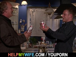 A guy fucks my wife while i watch