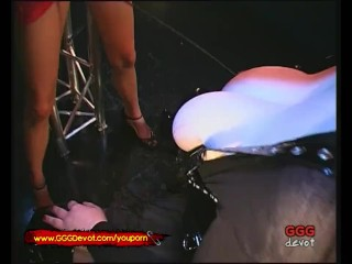 Busty Mistress takes her Skinny Slave to the fuck Arena - GGG Devot