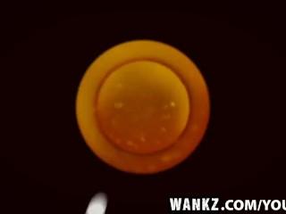 WANKZ- Leggy Blond Schoolgirl Gets Spermed