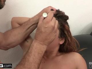 Keisha Grey gets a facial after a rough fuck