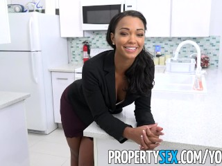 PropertySex – Cutie female property manager bangs mad tenant