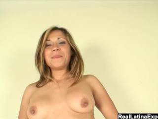 Hot Blooded Latina gets her pussy banged hard