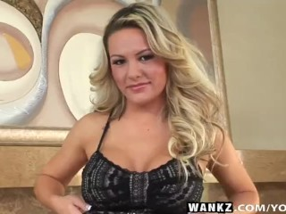 WANKZ- Megan Monroe Sucks Massive Penis