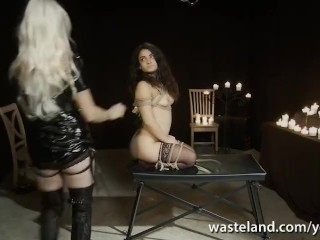 Goddess Starla and Brunette Have Intense BDSM Femdom Fun With Candles and Rope