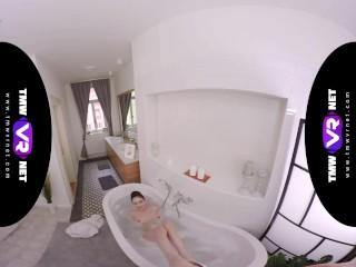 TmwVRnet.com - Arwen Gold - Wet Brunette Enjoys Bubble Bath and Hardcore Fuck