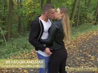 Dane Jones Sexy young Russian babe gives public blowjob
