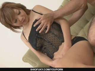 Filthy and sex-hungry babe fingered and dildo fondled
