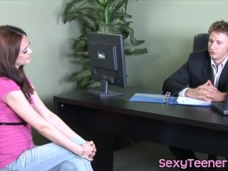 Teen beauty fucked ballsdeep in doctor office