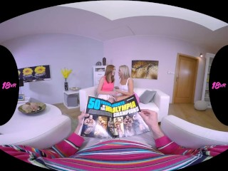 18VR.com Your Stepdaughter Linda And Cayla Ride Your Dick In Virtual Reality