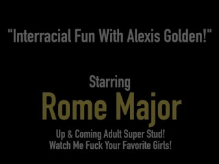 Round Ass Alexis Golden Wrecked By Big Black Cock Rome Major