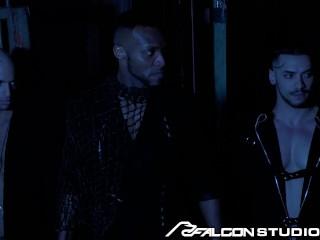Johnny V Rides Big Black Cock in the Backroom