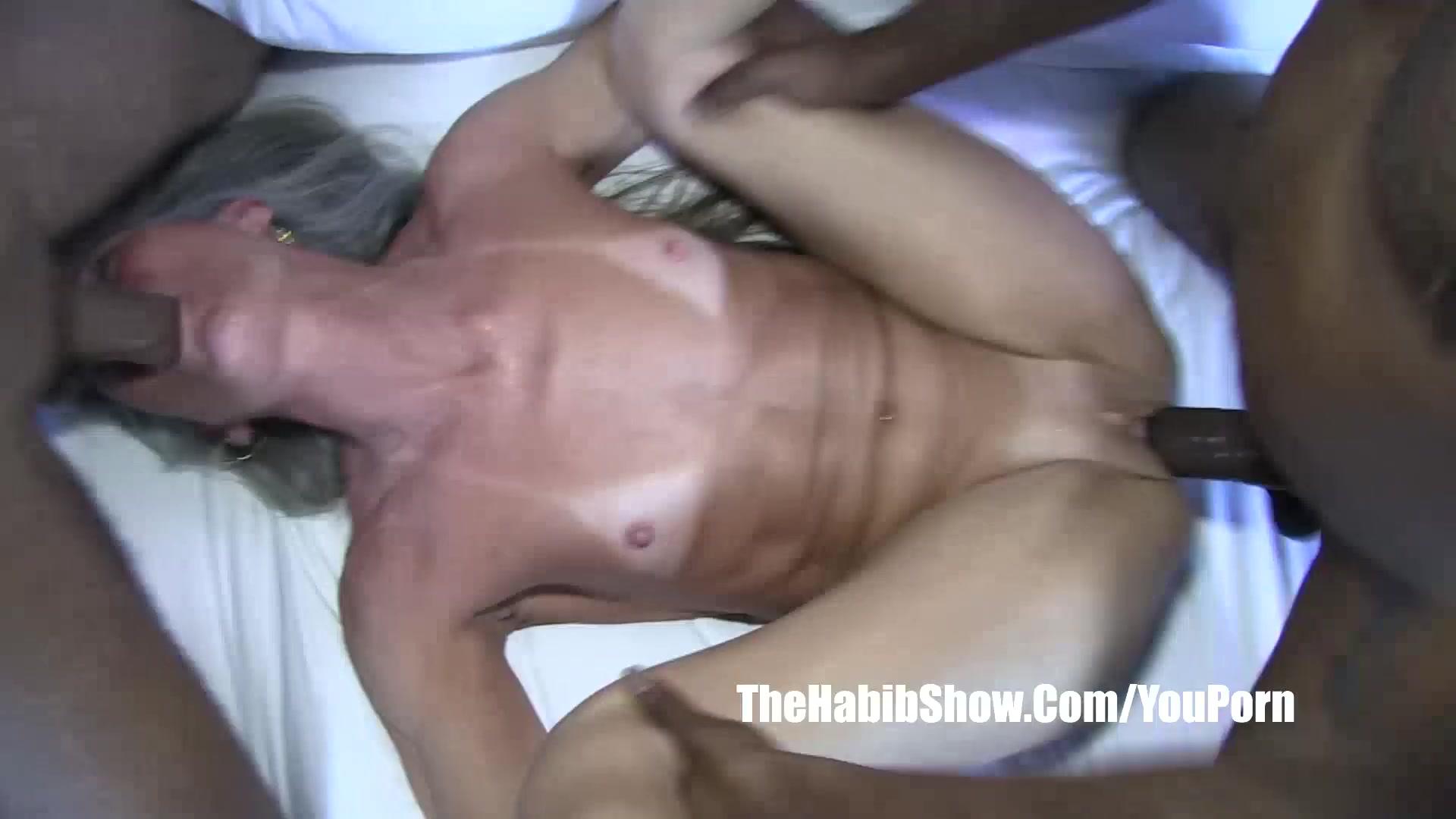 Cream in granny pussy
