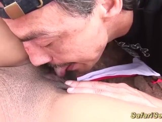 skinny african babe outdoor fucked
