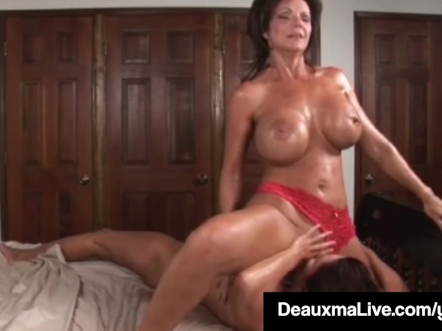 Deauxma Anal Squirt - Busty Milf Deauxma Squirts in Magdelaine St.michaels' Mouth ...