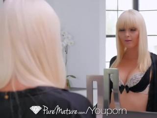 PureMature Blonde MILF Marie Mc Cray fucked in the bubble bath