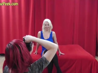 Blond bitch naked and horny