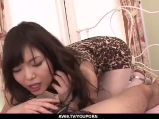 Megumi Shino screams hard with cock in her tiny pussy