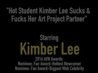 Hot Student Kimber Lee Sucks & Fucks Her Art Project Partner