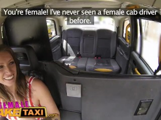 Female Fake Taxi Busty ebony stripper wants her tight pussy licked