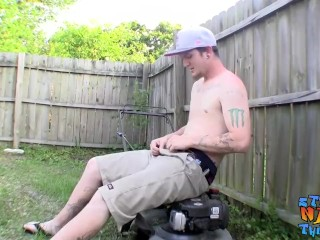 Outdoor jacking session with cute dude Lex Lane cock