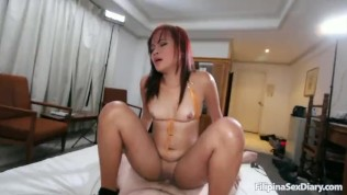 Filipina Babe Gets All Her Holes Stuffed By White Cock