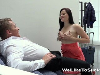 Weliketosuck - Face fucking and cumshot fun for horny Ella Martin