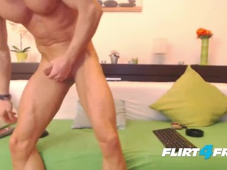 Ripped Flirt4Free Stud Gustavo Muscle Dildos His Tight Ass