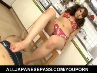 Ayaka Mizuhara excels in giving head and footjob  - More at hotajp.com