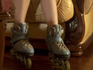 Last act of the astonishing Rita on skates in thongs