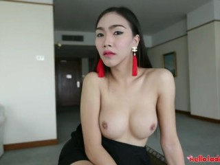Hello LadyBoy - Sexy Young Ladyboy Takes Faceful Of Cum