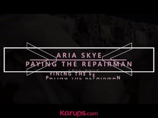 Karups - Asian Teen Aria Skye Fucks Computer Repair Guy