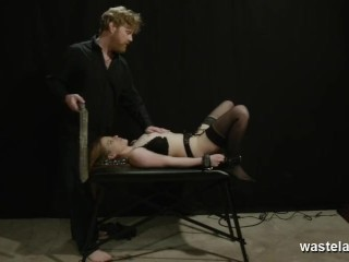 Shackled To A Table And Toyed While Giving Head