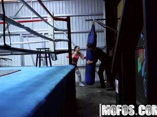 Mofos - Pervs On Patrol - Boxing Brunette Fucks in the Ring starring  Gia Paige