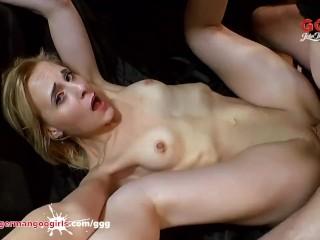 Monster Cock and Cum shower for skinny blonde Ashlee Cox - German Goo Girls