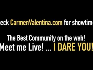 Florida Blonde Carmen Valentina Pussy Licked By Sara Jay!