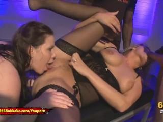 Pee and Cocks for Curvy sluts Tessa and Larissa - 666Bukkake