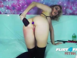 Spanking/bondage/gagged flirt4free model her dps