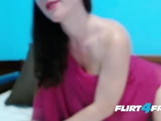 Flirt4Free Model Linda White - Lactating Big Boobed MILF Drinks Her Own Creamy Milk
