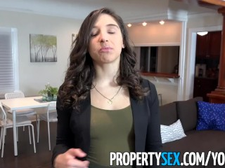 PropertySex - College student fucks hot ass real estate agent