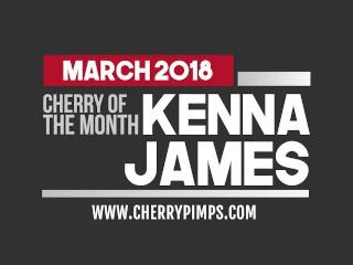 Kenna James Stripteases and Masturbates