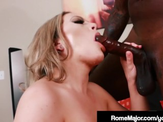 Big Black Cock Rome Major Slams Hot Blonde Carmen Valentina!