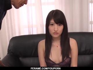 Naughty scenes of dirty porn with slim Saki Kobashi - More at Slurpjp.com