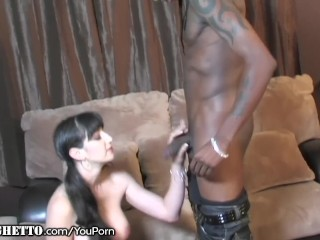 Busty Amateur Takes a BBC Drilling as her Fake Tits Bounce